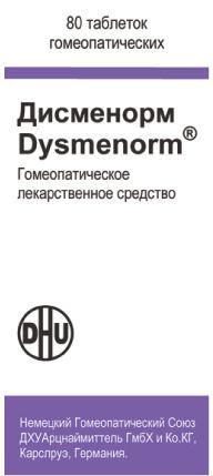 Дисменорм, таблетки для рассасывания гомеопатические, 80шт.