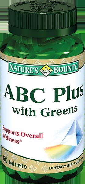 Natures bounty ABC Плюс Гринс, таблетки, 60шт.