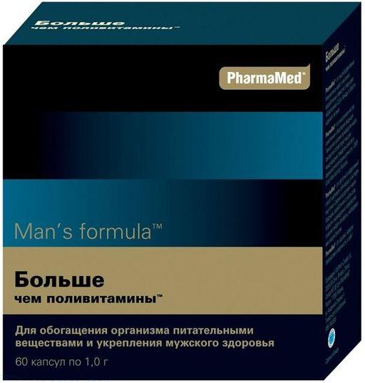 Man's formula Больше чем поливитамины, 1 г, капсулы, 60шт.