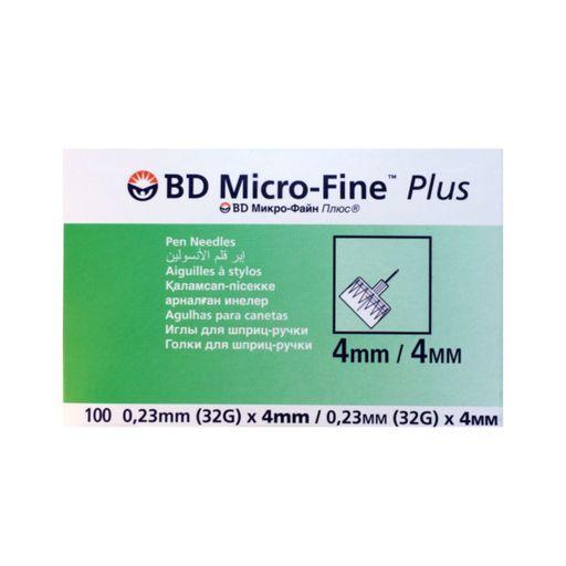 Игла для шприц-ручек Micro-Fine Plus, 32G(0.23x4)мм, 100шт.