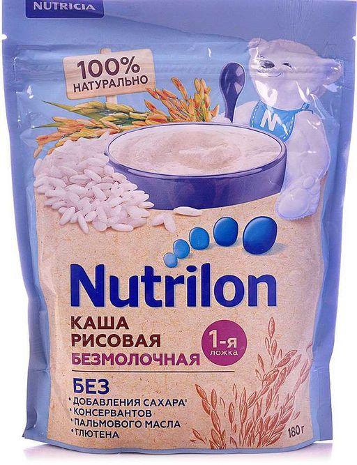 Nutrilon Безмолочная рисовая каша, 180 г, 1шт.