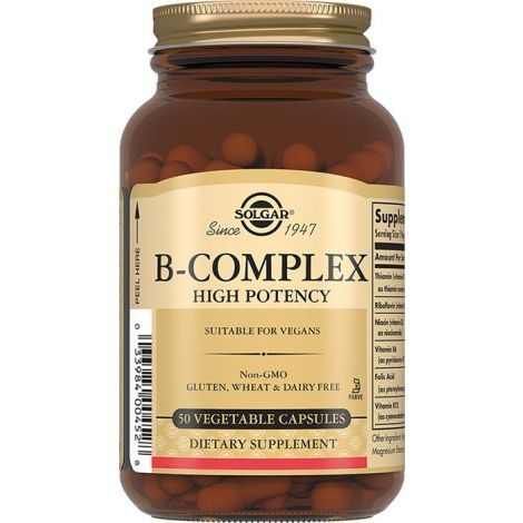 Solgar B-комплекс, 330 мг, капсулы, 50шт.