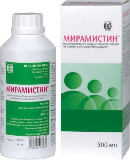 Мирамистин, 0.01%, раствор для местного применения, 500 мл, 1шт.