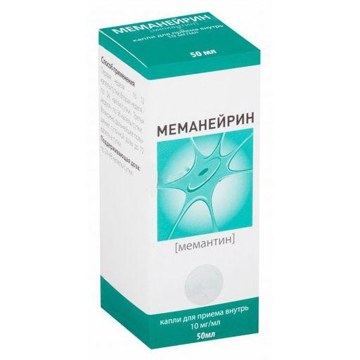Меманейрин, 10 мг/мл, капли для приема внутрь, 50 мл, 1шт.
