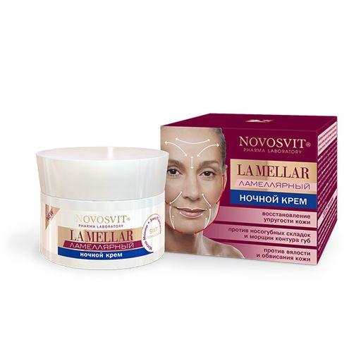Novosvit LA MELLAR Ламеллярный ночной крем восстановление упругости кожи, крем, для лица, 50 мл, 1шт.