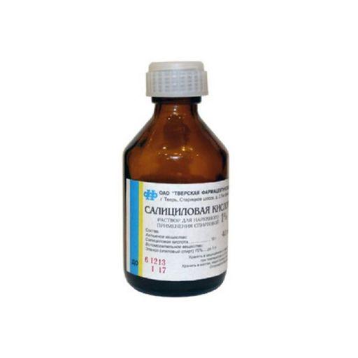 Салициловая кислота, 1%, раствор для наружного применения спиртовой, 40 мл, 1шт.