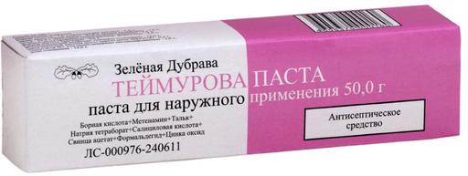Теймурова паста, паста для наружного применения, 50 г, 1шт.