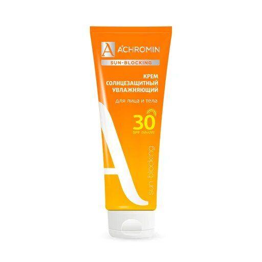 Achromin Крем солнцезащитный для лица и тела SPF 30, 250 мл, 1шт.