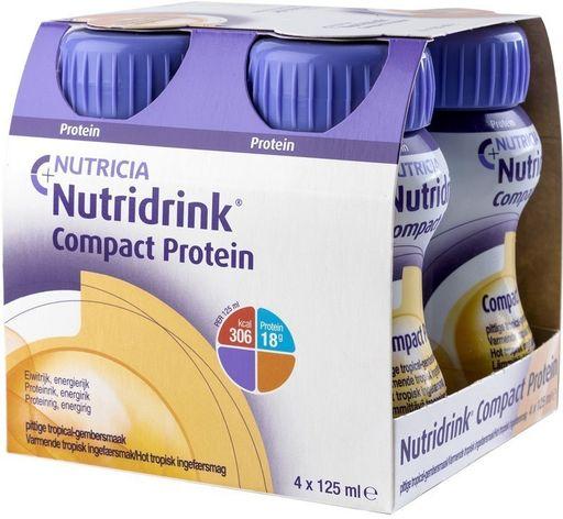 Nutridrink compact protein, жидкость для приема внутрь, согревающий вкус имбиря и тропических фруктов, 125 мл, 4шт.