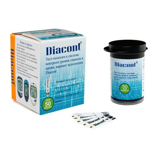 Diacont тест-полоски, тест-полоска, 50шт.