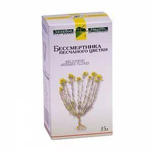 Бессмертника песчаного цветки, сырье растительное измельченное, 35 г, 1шт.