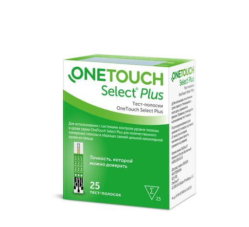 Тест-полоски OneTouch Select Plus, тест-полоска, 25шт.