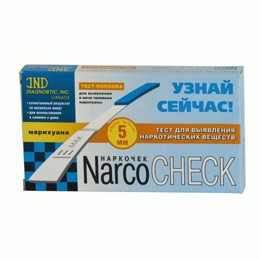 Тест на наркотики NarcoCheck Марихуана, тест-полоска, 1шт.