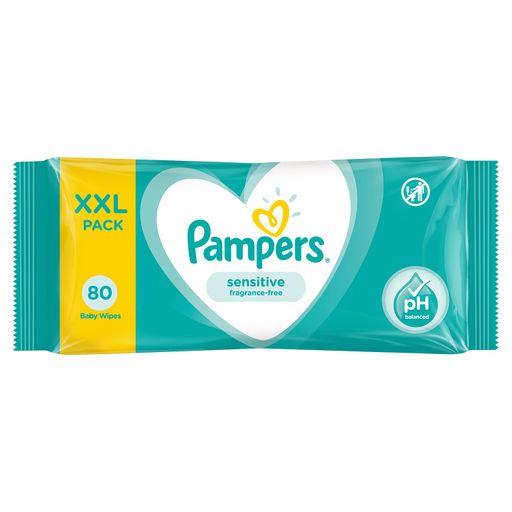 Pampers Sensitive Салфетки влажные детские, 80шт.