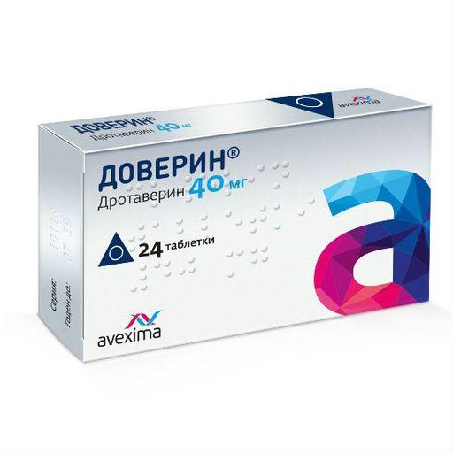 Доверин, 40 мг, таблетки, 24шт.