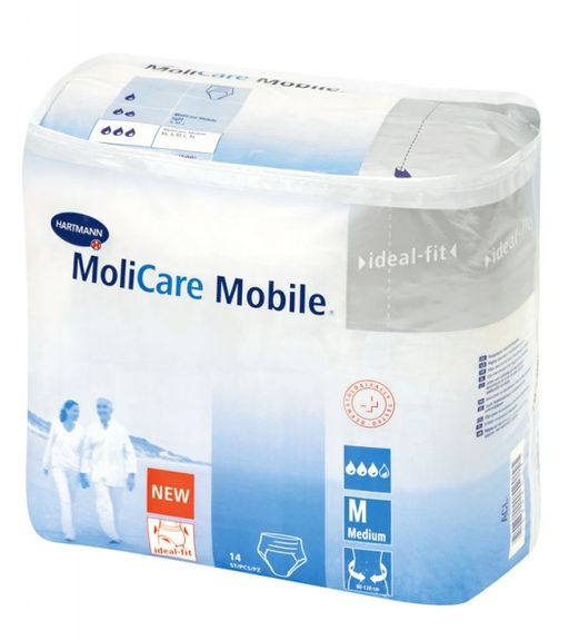 Подгузники-трусы для взрослых MoliCare Mobile, Medium M (2), 80-120 см, 14шт.