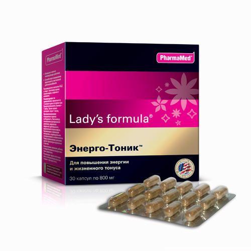 Lady's formula Энерго-Тоник, 800 мг, капсулы, 30шт.