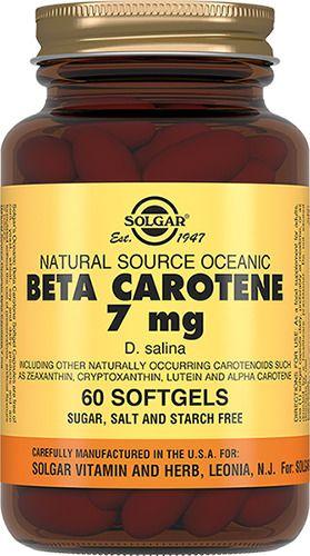 Solgar Бета каротин 7 мг, 7 мг, капсулы, 60шт.