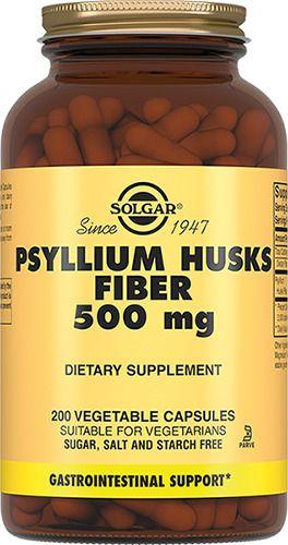 Solgar Псиллиум пищевые волокна 500 мг, 500 мг, капсулы, 200шт.