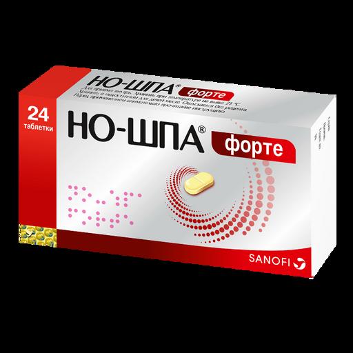 Но-шпа форте, 80 мг, таблетки, 24шт.