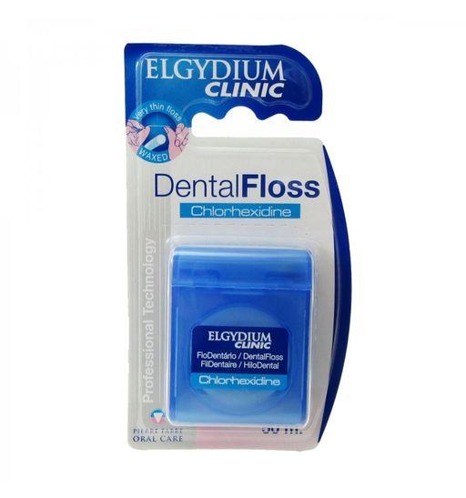 Эльгидиум клиник нить зубная с хлоргексидином, 50 м, нити зубные, 1шт.