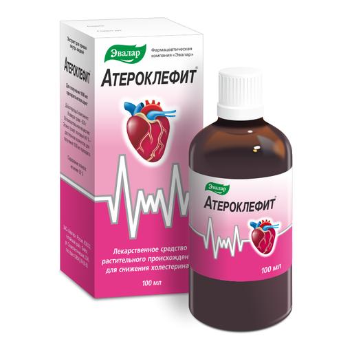 Атероклефит, экстракт жидкий для приема внутрь, 100 мл, 1шт.