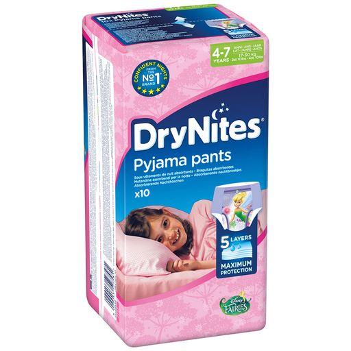 Huggies Drynites Подгузники-трусики, 4-7 лет, 17-30 кг, для девочек, 10шт.