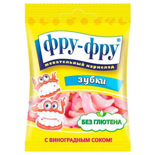 Фру-Фру мармелад Зубки, мармелад жевательный, с фруктовым соком, 30 г, 1шт.