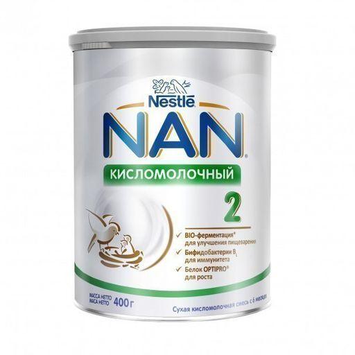 NAN 2 Кисломолочный, для детей с 6 месяцев, смесь кисломолочная сухая, с пробиотиками, 400 г, 1шт.