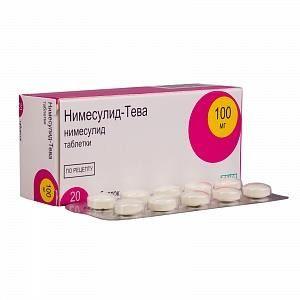 Нимесулид-Тева, 100 мг, таблетки, 20шт.