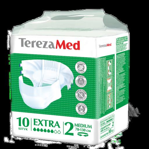 TerezaMed Extra подгузники для взрослых дневные, Medium M (2), 70-110 см, 10шт.