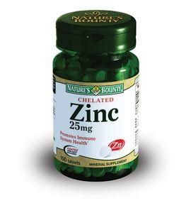 Natures Bounty Хелат Цинка 25 мг, 25 мг, таблетки, 100шт.