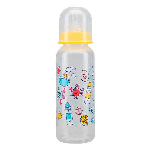 Курносики бутылочка с силиконовой соской 0+, 250 мл, арт. 11004, с рисунком, в ассортименте, с силиконовой соской, 1шт.