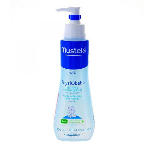 Mustela Physiobebe жидкость очищающая для лица и тела, жидкость, 300 мл, 1шт.