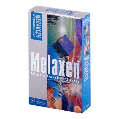 Мелаксен, 3 мг, таблетки, покрытые оболочкой, 24шт.