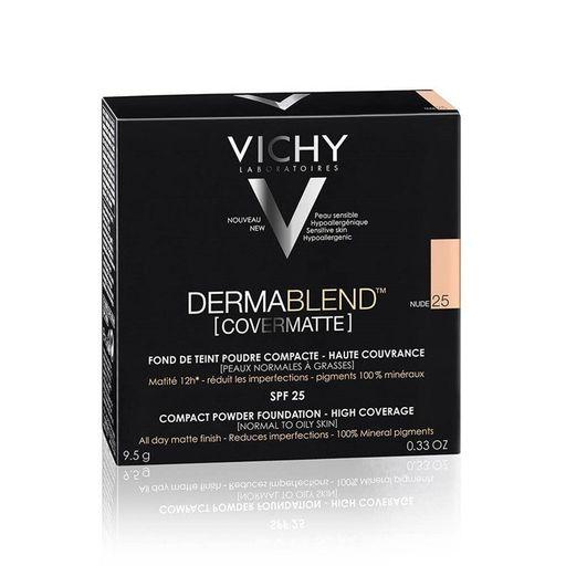 Vichy Dermablend Covermatte пудра компактная SPF25, пудра, тон 25, 9,5 мл, 1шт.