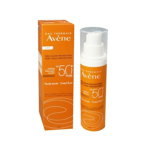 Avene солнцезащитный флюид с тонирующим эффектом SPF50+, крем, 50 мл, 1шт.