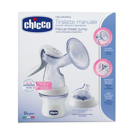 Chicco Natural Feeling Молокоотсос ручной с бутылочкой, 1шт.