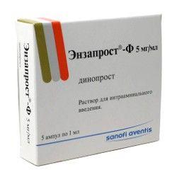 Энзапрост-Ф, 5 мг/мл, раствор для интраамниального введения, 1 мл, 5шт.