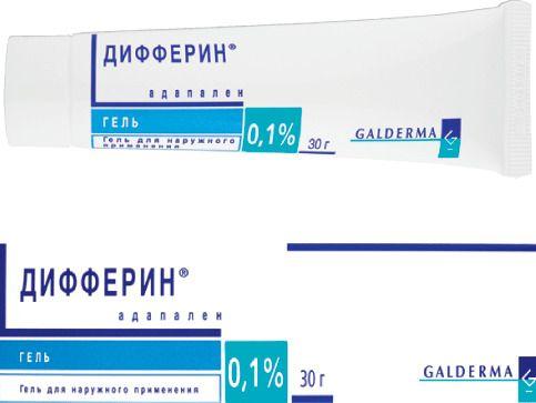 Дифферин, 0.1%, гель для наружного применения, 30 г, 1шт.