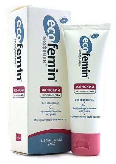 Экофемин Интимный гель, гель для наружного применения, для женщин, 50 мл, 1шт.