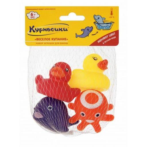 Курносики Набор игрушек для ванны Веселое купание, 4шт.