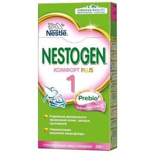 Nestogen 1 Комфорт Plus, для детей с рождения, смесь молочная сухая, с пребиотиками и пробиотиками, 350 г, 1шт.