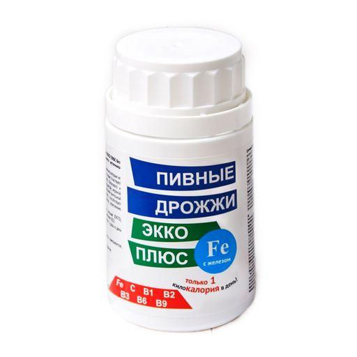 Пивные дрожжи Экко Плюс с железом, 0.45 г, таблетки, 100шт.