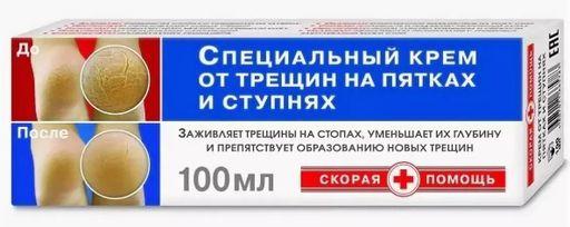 Скорая помощь Крем косметический для пяток, крем для ног, 100 мл, 1шт.