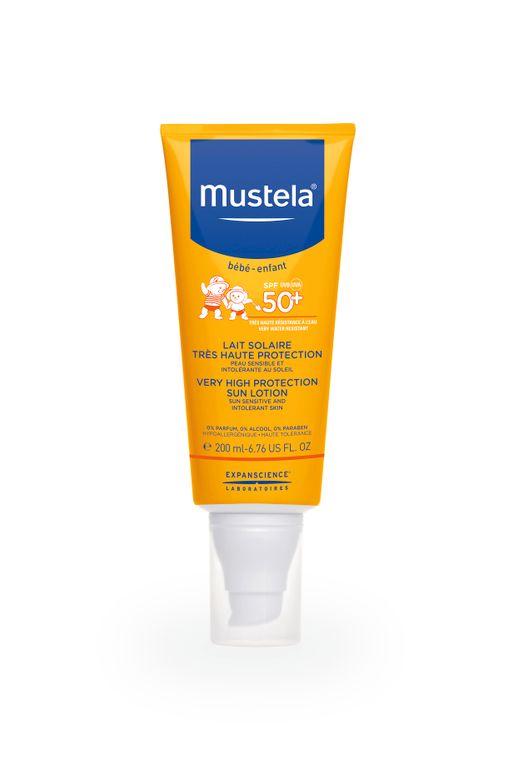 Mustela Sun Солнцезащитное молочко для детей SPF-50+, молочко, 200 мл, 1шт.