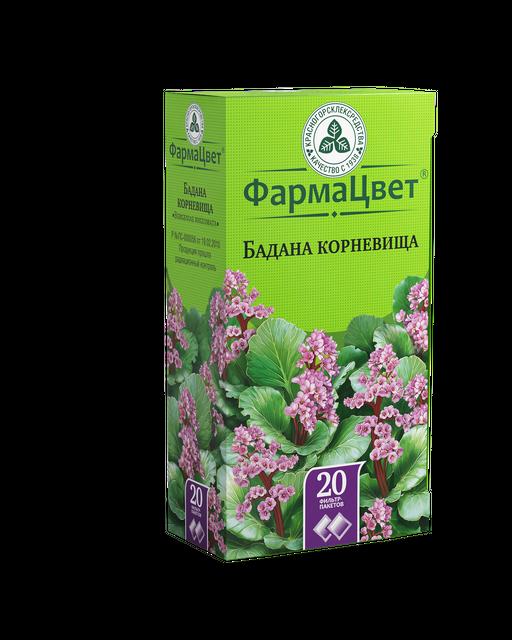 Бадана корневища, сырье растительное-порошок, 1.5 г, 20шт.