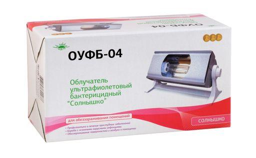 Облучатель ультрафиолетовый Солнышко ОУФБ-04, 1шт.
