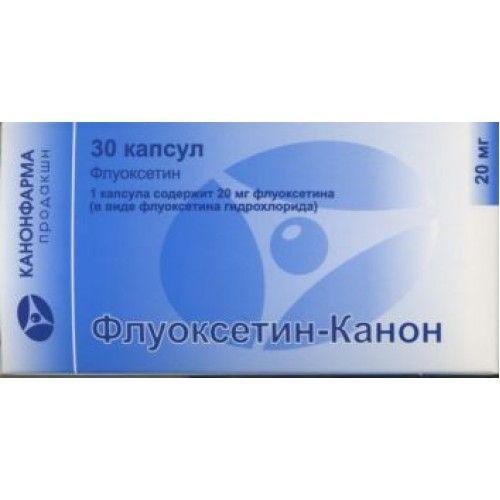 Флуоксетин-Канон, 20 мг, капсулы, 30шт.