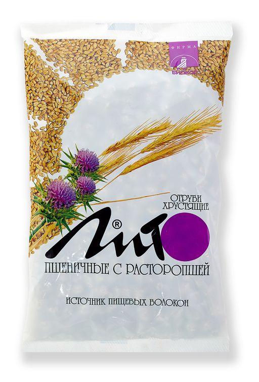 Отруби хрустящие с кальцием Лито пшеничные с расторопшей, гранулы, 200 г, 1шт.